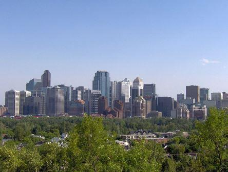 Calgary business district