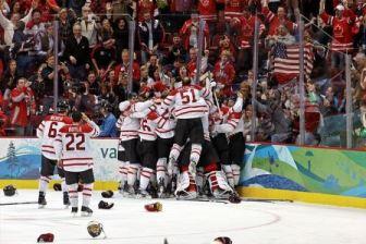 Canada's ice hockey victory