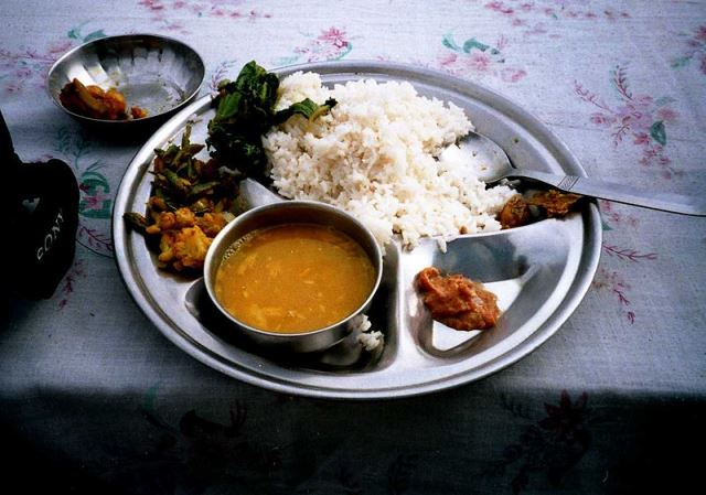 Nepali meal Dal bhat