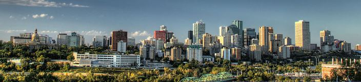 Downtown Skyline of Edmonton Alberta, Canada