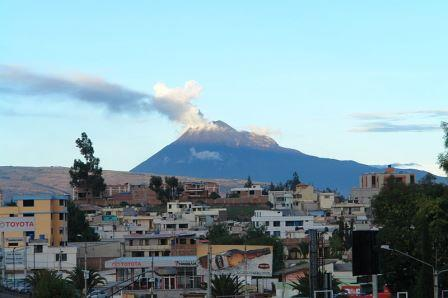 El Tungurahua volcano