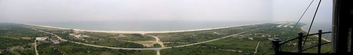 Panorama of Fire Island New York
