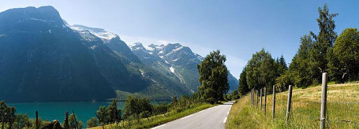 Loen village in Norway
