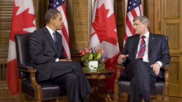 Stephen Harper and Barack Obama