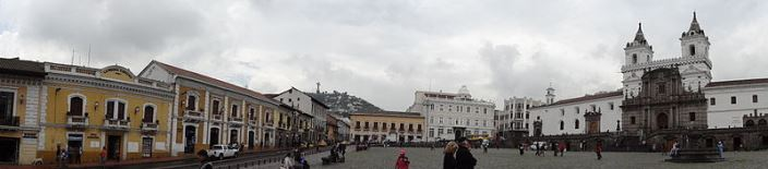 Plaza San Francisco, Church and Convent of St. Francis in Quito