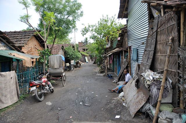 A slum in north Kolkata