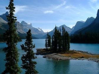 Spirit Island on Maligne Lake, Canada