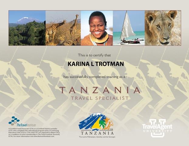 Tanzania certificate