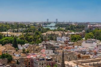 Skyline of Seville Spain