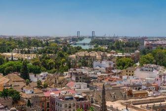 Skyline of Seville Spain