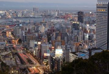Twilight view of Kobe,