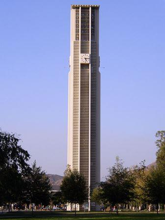 carillon tower at the University of California  Riverside.