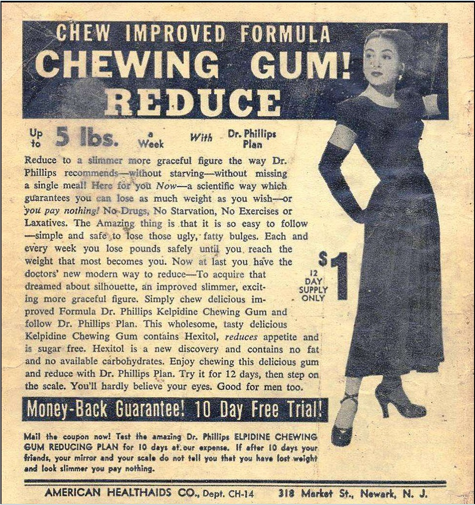 dhewing gum ad