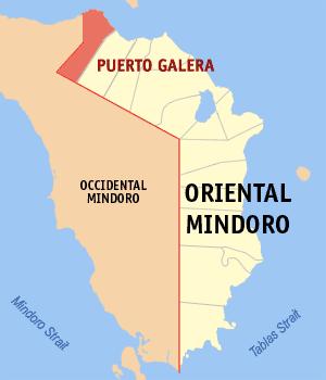 Map of Oriental Mindoro Philippines
