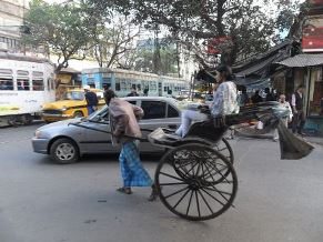 Hand-pulled rickshaw