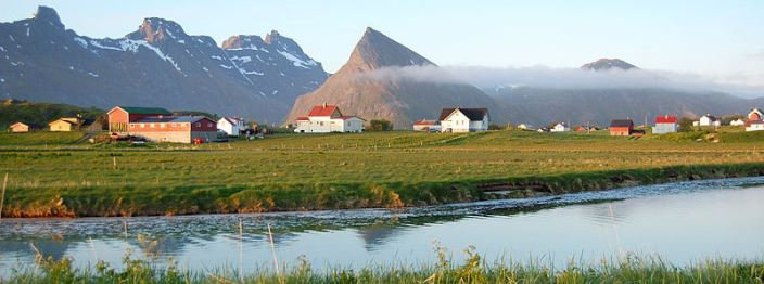 Fredvang in Lofoten, Norway