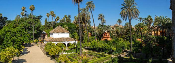 gardens in Real Alcazar de Sevilla